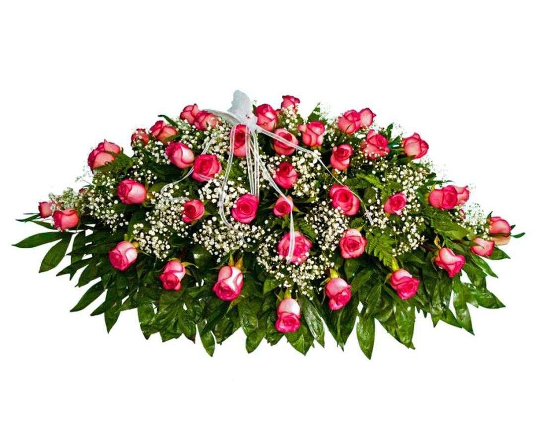 All Rose Coffin Spray